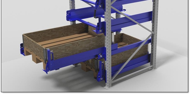 tiroir palette sur échelles