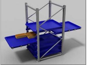 rack tiroir modulaire sorti