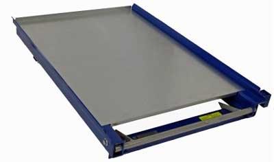 plateau galvanisé pour tiroir à palette